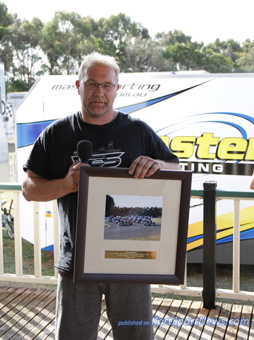 A plaque of appreciation was given to AUSTRANS for their long running support of the series. The plaque was accepted by Michael Angwin on their behalf.