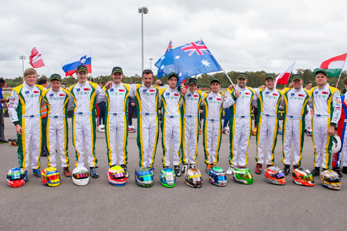 The Australian team at the 2013 Rotax Max Challenge Grand Finals in New Orleans, USA