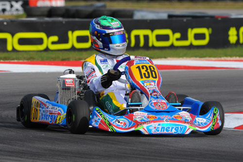 Sydney teenager James Abela charged through the field in the Junior Max final