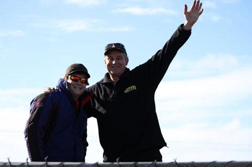 Chris Thomas and his dad Richard