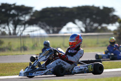 Bradley Marsh-Stepney took the win in the Colin DeVries Memorial for Clubman Light.