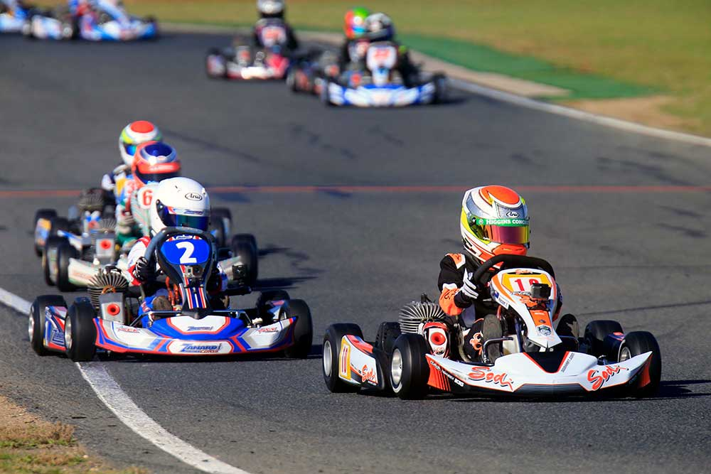 Emerson Vincent (10) was the best finishing Kiwi at the third round of the 2017 Australian Kart Championship at Monarto over the weekend (pic - Fast Company/Coopers Photography)