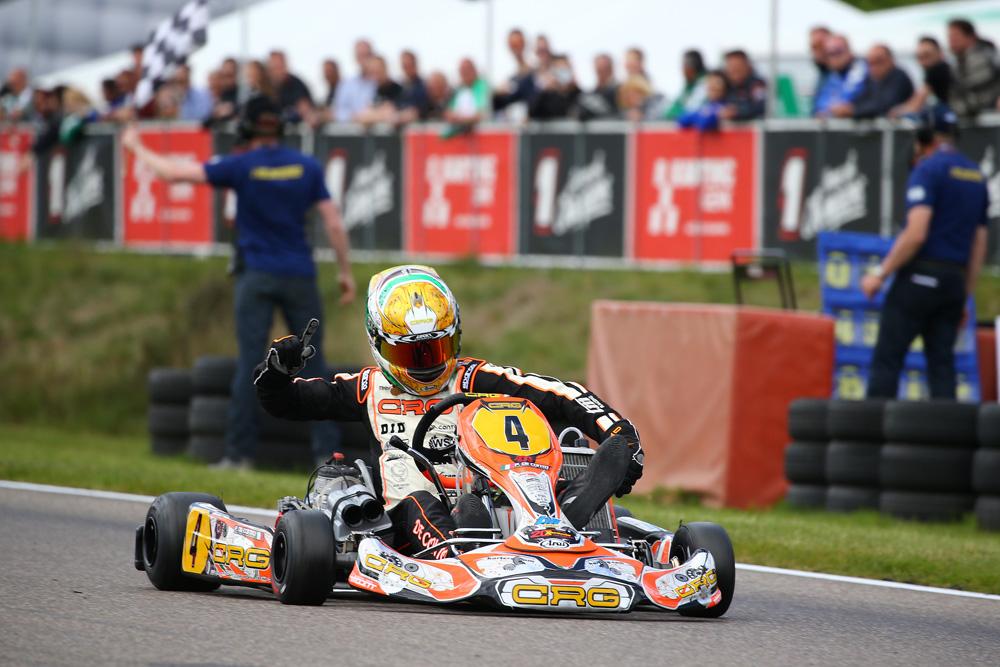 CRG's Paolo de Conto takes victory in KZ (pic - CRG)