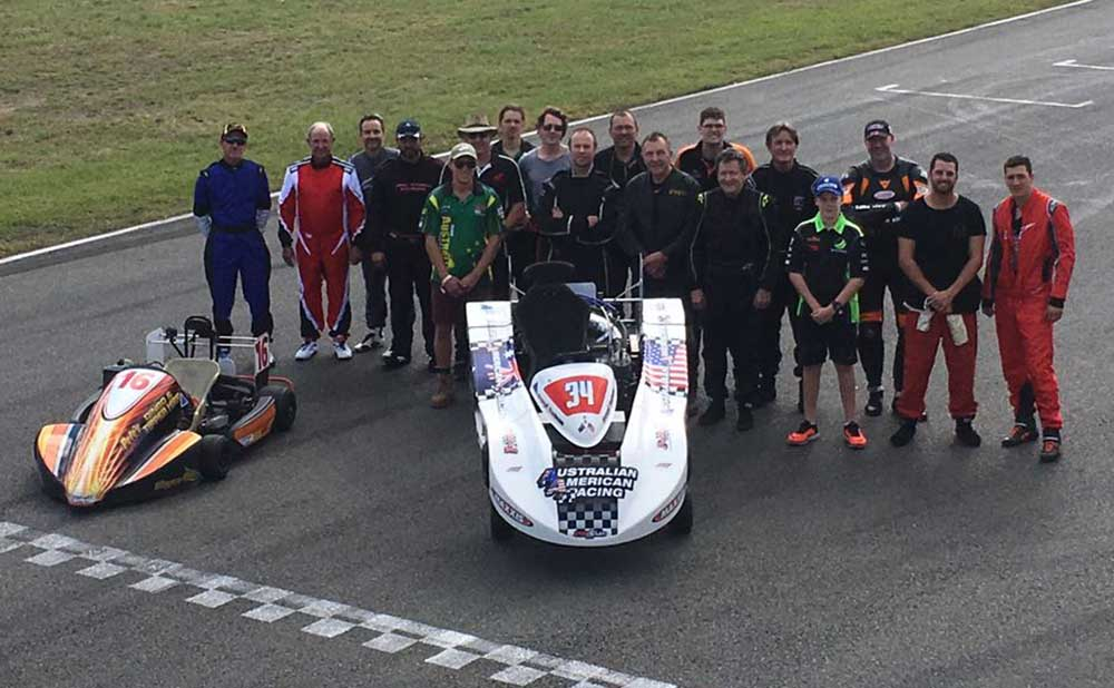 Drivers' group photo for round 2