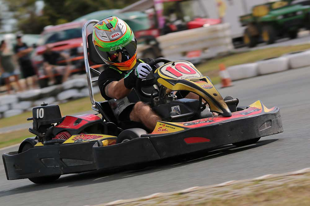 Clay Seaborne in action at Pimpama (pic - Jeff Smith)