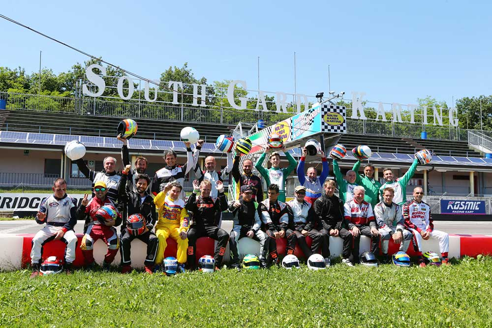 The KFA Nations Cup drivers (pic - South Garda Karting)