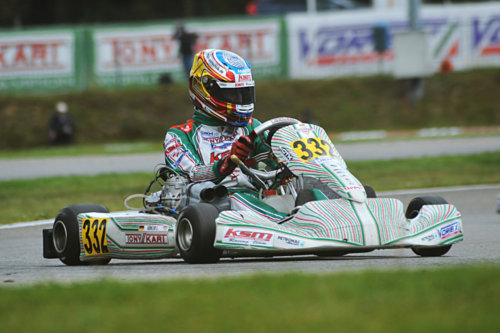 Leon Kohler, 3rd in KZ2 having earlier qualified pole for the heats (pic - press.net images)