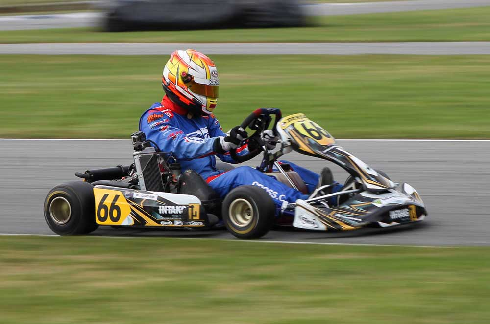 Caleb Cross won Rotax Max Light (pic - Teneill Rasmussen/Fast Pace Media)