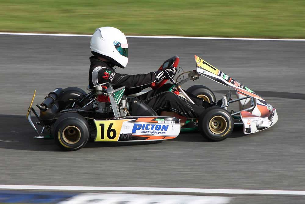 Junior Rotax winner Jacob Mitchell (pic - Teneill Rasmussen/Fast Pace Media)