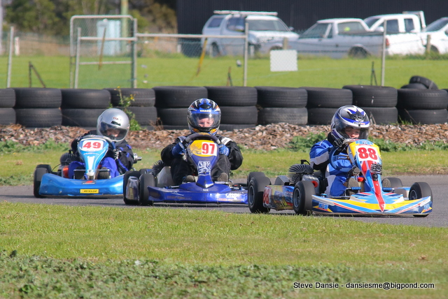 The Cadet P-Platers, Harrison Martin ahead of Owen Pettigrew and Ryan Wyhoon (pic - Steve Dansie)
