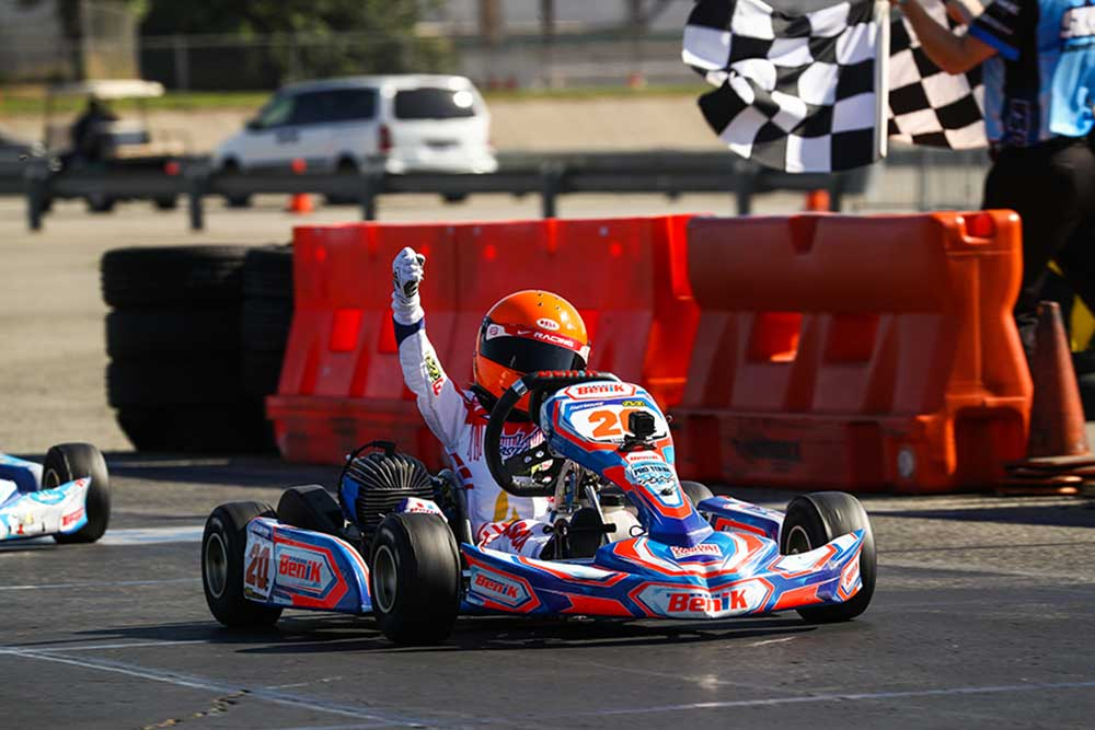 Micro Swift was decided by a last lap, last corner pass with Dane Idelson taking the checkered flag (Photo: DromoPhotos.com)