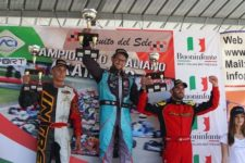 KZ2 Race-1 podium with Pollini, Palomba and Zanchetta