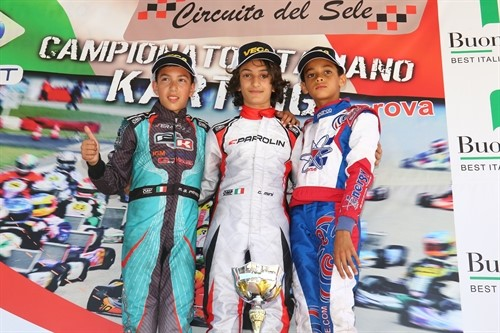 Race 2 podium for 60 Mini  with Minì, Paparo and Ugochukwu