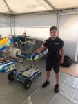 James and the RFM FA Kart he'll run in the WSK Final Cup