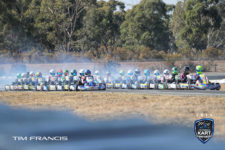 Prefect alignment, KA3 Junior Light roll up to the start, Nicholas Sacco (80) and Matthew Hillyer (28) on the front row (pic - Tim Francis/KV)