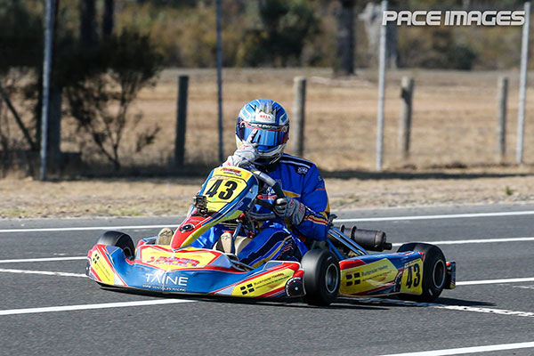 Taine Venables wins KA3 Senior Medium, denying Matthew Waters a clean sweep of the meeting (pic - Pace Images)