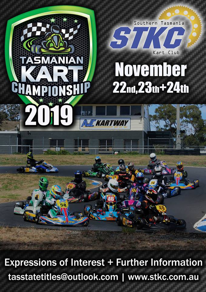 Southern Tasmania Kart Club will host the 2019 Tasmanian Kart Championship