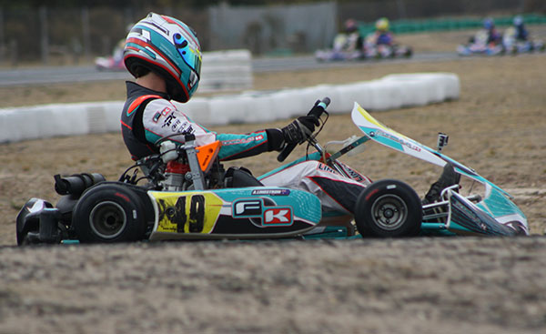 Adam Lindstrom drove his Formula K/Rotax to victory in TaG Light (pic - Mark Wicks/KSN)