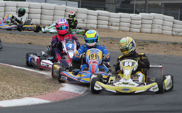 Vic Combined Masters winner Glenn Riddell leads Peter Gigis and Phil Smith on Saturday (pic - Mark Wicks/KSN)