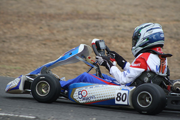 Nicholas Sacco scored a debut win for Mach1 in KA3 Junior (pic - Mark Wicks/KSN)