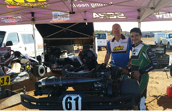 #61 Antoni Ormsby KA4 Junior light winner with team principle Ian Williams who owns/runs IWT (Ian William Tuning) in Adelaide.