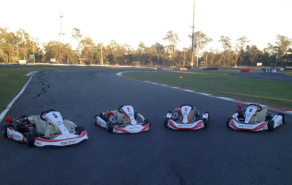 The club's fleet of re-furbished Come-and-Try karts