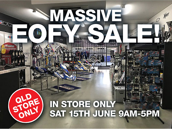 EOFY sale inside DPE kart superstore qld